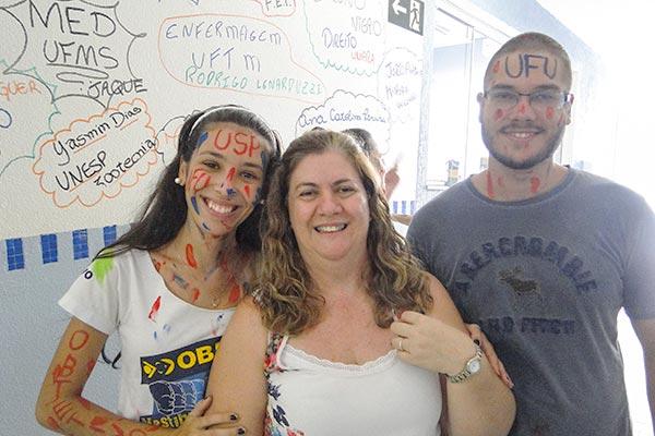 Alunos receberam todo o apoio dos profissionais do Curso OBJETIVO Araraquara