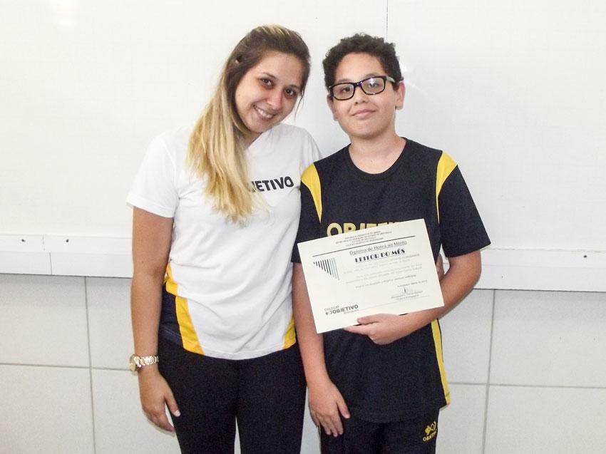 Arthur Fioravante Alves (7M2), leitor do mês de março